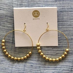 NEW WITH CARD💯Gorjana hoop bead earrings